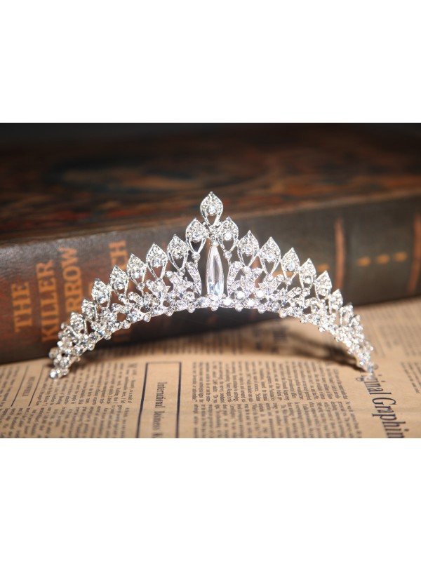 Elegant Clear Crystals Wedding Headpieces