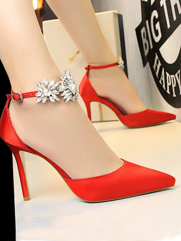 Women Patent Leather Stiletto Heel Closed Toe High Heels