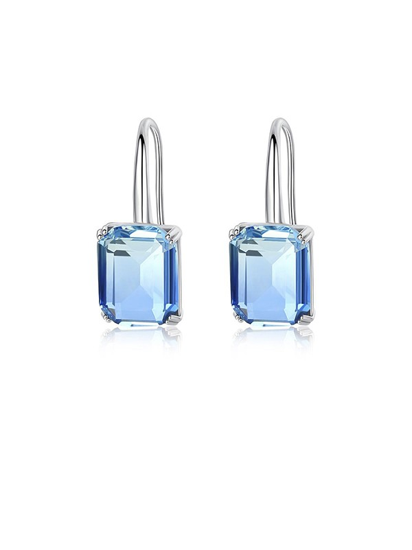Trending Zircon With Crystal Earrings For Ladies