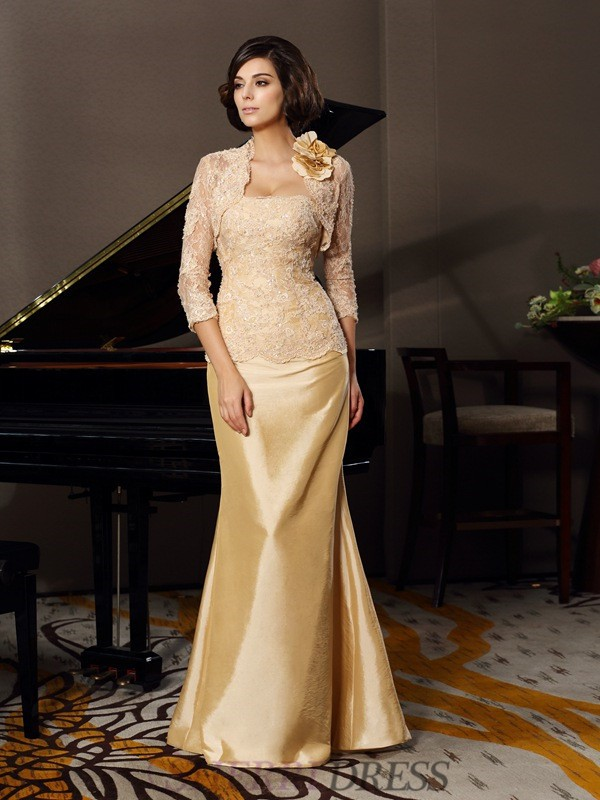 Trumpet/Mermaid Sweetheart Taffeta Sleeveless Floor-Length Mother of the Bride Dresses