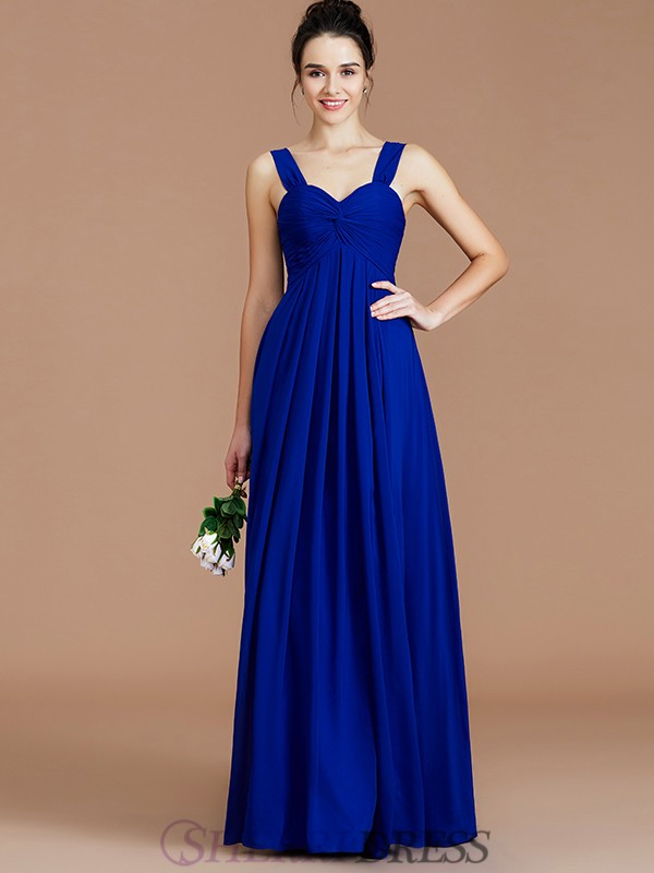 Empire Sweetheart Chiffon Sleeveless Floor-Length Bridesmaid Dresses