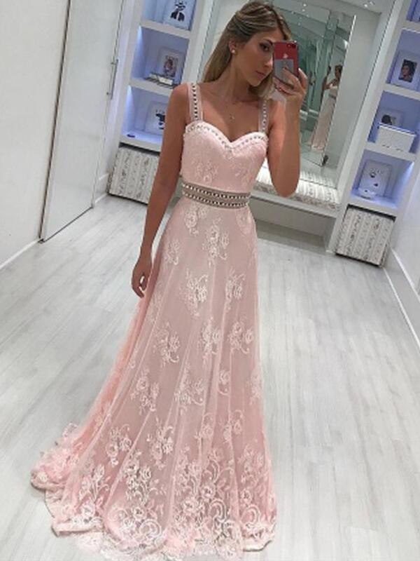 A-Line/Princess Sweetheart Satin Sleeveless Floor-Length Dresses