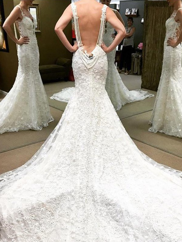 Ball Gown Off-the-Shoulder Lace Short Sleeves Floor-Length Wedding Dresses